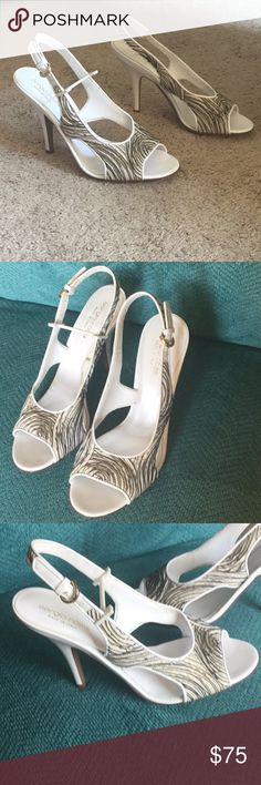 fb45b0e0e Sergio Rossi Italy open toe sling back heels Worn once , in excellent  condition Size 38 us 8 Sergio Rossi Shoes Heels
