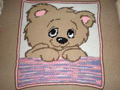 Crochet Stuff Bears Patterns Ravelry: Shy Bear pattern by Carla West - Free crochet pattern - Graph Crochet, Pixel Crochet, Baby Afghan Crochet, Crochet Quilt, Manta Crochet, Crochet Bebe, Crochet Stitches Patterns, C2c Crochet, Tapestry Crochet