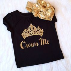 Crown Me Pageant Shirt Baby Girl Clothes by KennedyClairesCloset