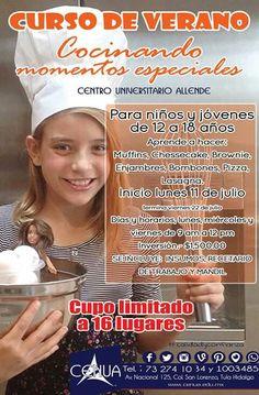Curso de verano en la cocina #cenua niños y jóvenes inicia 11 de julio