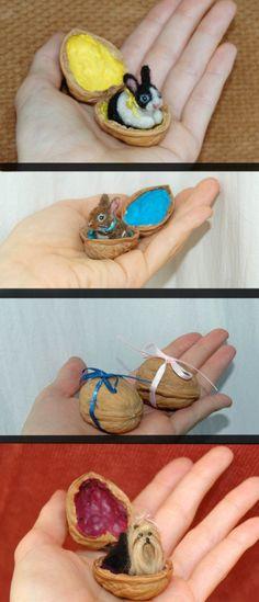 OOAK mano aguja Felted diminuta miniatura por AmberRoseCreations