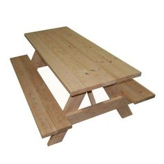 Whitewood picnic table less than $100 at Home Depot... could stain and seal for outdoor dining on the cheap?