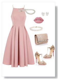 """""""Untitled #797"""" by sajairaq ❤ liked on Polyvore featuring Chi Chi, Christian Louboutin, Jimmy Choo, Blue Nile, Mikimoto and Lime Crime"""