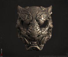 Melita's Tiger mask, Zhelong XU on ArtStation at https://www.artstation.com/artwork/emgbD?utm_campaign=digest&utm_medium=email&utm_source=email_digest_mailer