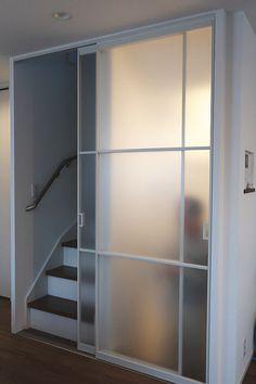 Door Design, House Design, Open Trap, Staircase Storage, Small Office, Home Decor Furniture, Stairways, Sliding Doors, Planer