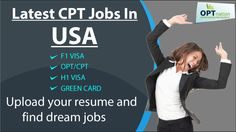 CPT Jobs for CPT Candidates Latest CPT jobs for CPT Candidates, F1 Visa holder in USA. http://www.optnation.com/cpt-jobs