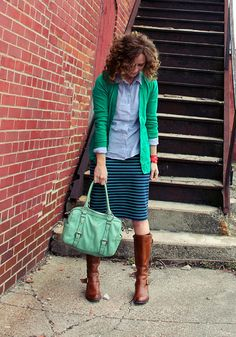 how to style green and navy 1 by KristinaJ., via Flickr