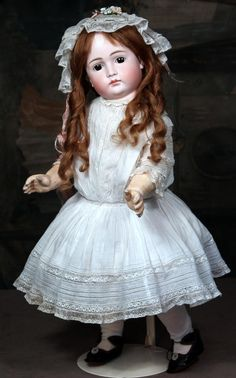 "Early Kestner Pouty Child in all Antique Clothing~25"" from signaturedolls on Ruby Lane"