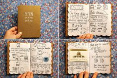 We love the homemade journals ...soon we'll be releasing a journal of our own for you to document your travels in if you aren't so crafty.