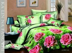 Romantic Love of Pink Rose 2013 New Arrivals 4 Pieces Bedding Sets Pink Bedding Set, 3d Bedding Sets, King Size Bedding Sets, Bedding Sets Online, Comforter Sets, Floral Bedding, Duvet Covers Urban Outfitters, Comforter Cover, House Beds
