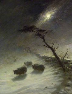Driving Snow by Joseph Farquharson Aberdeen Art Gallery & Museums Date painted: c.1905