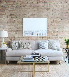 pinterest-sofa-cinza-sala-de-estar-almofadas-estampas (Foto: Reprodução/Pinterest)