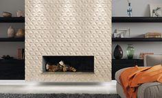 Lareiras decoradas trazem estilo e conforto ao ambiente - Revista USE Tiles Texture, Textured Walls, Decoration, 3 D, House, Inspiration, Design, Home Decor, Glamour