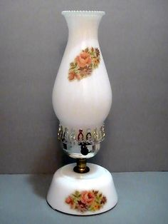 Vintage Hurricane Lamps Glass | See the small card with the code on it? The seller printed that out ...