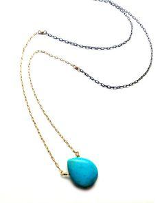 Turquoise Drop Necklace - JewelMint