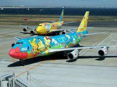 ANA Boeing 747 Pokemon aircraft