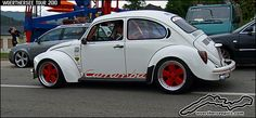 White VW Beetle Germanlook 1303 at the Wörthersee Tour 2010 by retromotoring, via Flickr