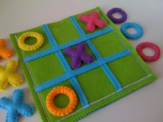 Tic Tac Toe Game Set for blind children  Game by twinsandcrafts, $35.00