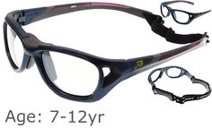 02acaedc664  7-12 yrs  Rec Specs Sport Shift Sports Glasses   Goggles ASTM  Shiny Navy  Blue - 52 Size