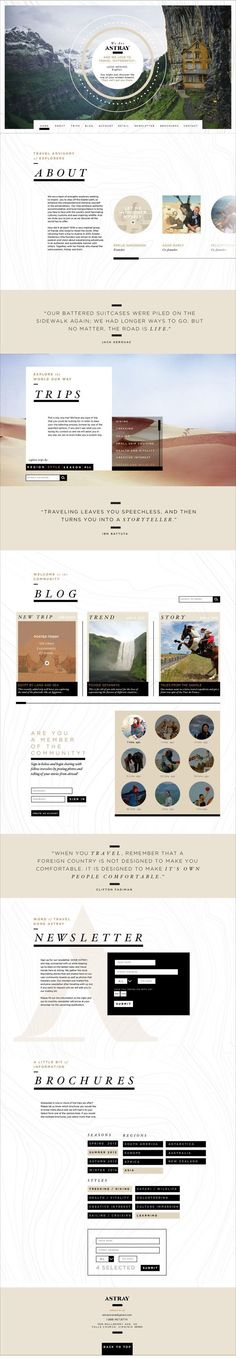 Astray Travel Co : Branding, Website & App by Rebecca Williams, via Behance awesome web design