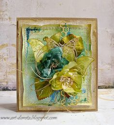 Dorota_mk: marca 2015, Card with flowers and butterflies