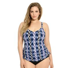 Plus Size Tankini Top with Underwire From Christina - Evening Spell Plus Size Underwire Swimwear, Junior Plus Size Swimwear, Plus Size Tankini, Plus Size Swimsuits, Women Swimsuits, Tankini Top, Womens Tankini, Swimsuit Tops, Curvy Women