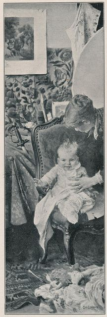 Carl Larsson, vrouw en dochter Susanna JPG by janwillemsen, via Flickr