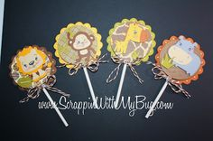 Scrappin with my bug: Zoo anmal cupcake toppers !