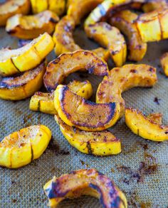 Roasted Cinnamon-Ginger Delicata Squash - no sugar please and only use either olive oil or coconut oil