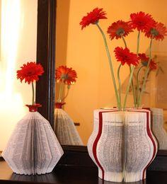 recyclage de livres en vases