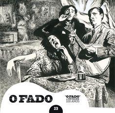 """2012 O Fado de José Malhoa 100 Anos 23 [Tugaland/A Bela e o Monstro] ilustração: Diniz Conefrey """"odaf"""" #albumcover #illustration #fado #music"""