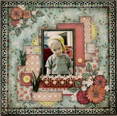 Colin - June23, 2006 - Scrapbook.com   This is beautiful!  but maybe a bit too feminine for a boy layout?