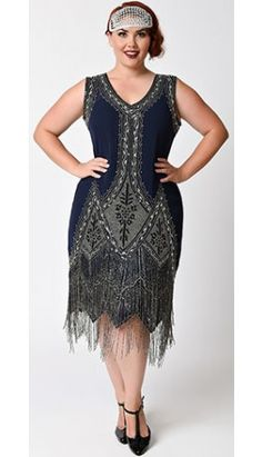 Shop 1920s Plus Size Dresses and Costumes | Retro dress and Flappers
