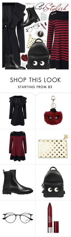 """""""Be Different"""" by pokadoll ❤ liked on Polyvore featuring Kate Spade, Salvatore Ferragamo, Anya Hindmarch, Ray-Ban, Revlon, polyvoreeditorial and polyvoreset"""