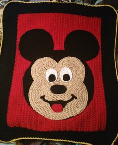 Crochet Mickey mouse baby blanket