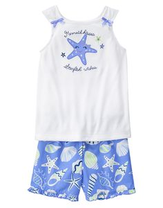 Starfish Wish Two-Piece Short Pajamas at Gymboree