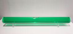 """Junichiro Iwase, """"Green Mu"""", 2017, Acrylic, Water, Food Colour, 3 x 31 x 3 inches"""