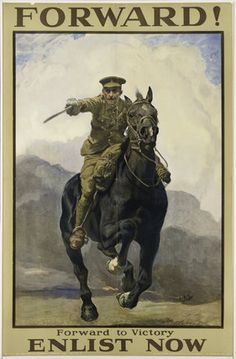 'Forward! Forward to Victory', 1914 (c) Lucy Kemp-Welch