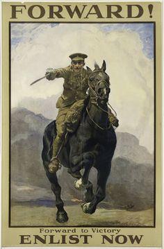 'Forward! Forward to Victory', 1914 (c) Lucy Kemp-Welch