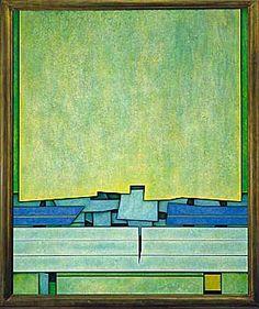 Gunther Gerzso, Personaje-paisaje, 1972 [first P-P]