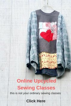 Step by step video based upcycled sewing classes by wendy bryant of creolesha. Redo Clothes, Diy Clothes Refashion, Shirt Refashion, Diy Clothing, Sewing Clothes, Diy Clothes Videos, Clothes Crafts, Pamela, Altered Couture