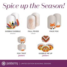 What wonderful additions to your Thanksgiving Day! #Jamberry #nails #Thanksgiving