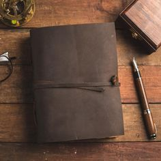 Leather Journal with Antique Paper Bring out your inner creativity with the NomadCraftsCo. Antique Leather Bound Writing Journal for Women and Men! The vintage paper looks and feels like a thousand years old is treat to write on. The paper is made from environmentally friendly cotton and jute canvas.