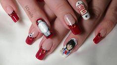 big hero 6 inspired nail art by sugarcharmshop on DeviantArt