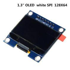 "1.3"" OLED Module White Color SPI 128X64 1.3 Inch OLED LCD LED Display Module 1.3"" SPI Communicate for arduino Diy Kit"