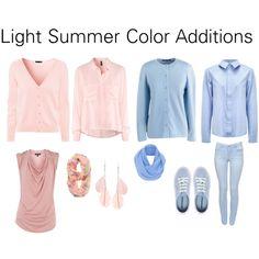 """Light Summer Color Additions"" by katestevens on Polyvore"