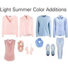 """Light Summer Color Additions"" by katestevens on Polyvore"
