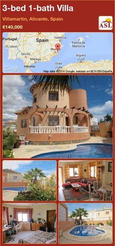 3-bed 1-bath Villa in Villamartin, Alicante, Spain ►€140,000 #PropertyForSaleInSpain