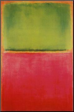 Grün, Rot auf Orange Kunstdruck von Mark Rothko bei AllPosters.de