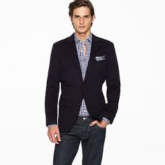 love the checked shirt under blazer w/ pocket square